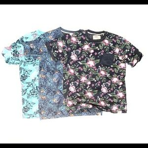 Set of 3 Free Planet T-Shirts.  Size S.